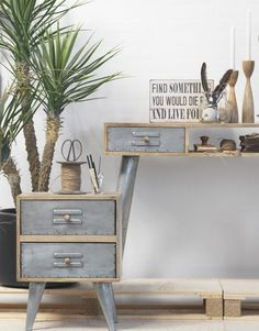 industrial style office furniture, two drawer cabinet