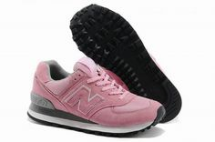 Joes New Balance 574 US574W Pink Womens Shoes