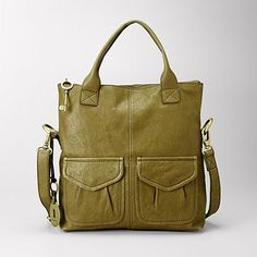 Fossil Bag in green olive