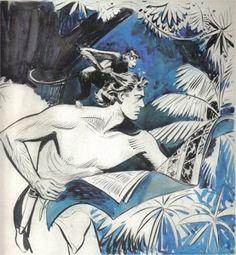 Tarzan - desenho de Rex Maxon