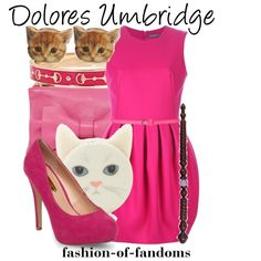 Dolores Umbridge by fofandoms on Polyvore featuring Alexander McQueen, Dorothy Perkins, RED Valentino, Fornash and Forever 21