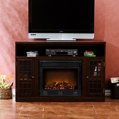 Narita Media Electric Fireplace at HSN.com.