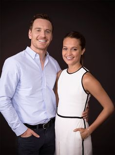 Michael Fassbender and Alicia Vikander for USA Today