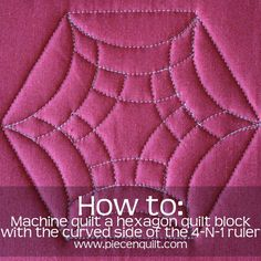 a quilt blog about machine quilting, sewing, sewing tutorials, author of Beginner's Guide to Free-Motion Quilting. Free tutorials.