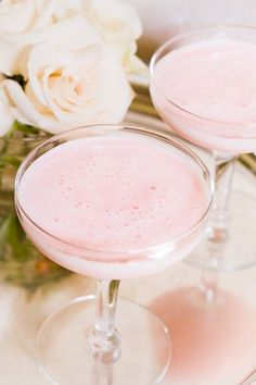 Charleston Pink Lady Cocktail Recipe - looks so soft and sweet, perfect for Valentines Day!