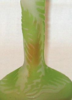 Emile Gallé Ferns Pattern Vase. Detail