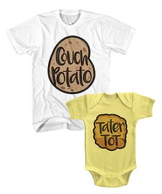6d7ce5945 Loving this White & Banana Potato Tee & Bodysuit - Men & Infant on this for  my son and newborn daughter