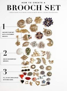 Brooch or pin, a cluster is always better than just 1, which can look lost.