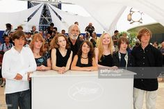 Actors Leonard Proxauf, Leonie Benesch, Roxanne Duran, director Michael Haneke, Janina Fautz, Maria-Victoria Dragus, Theo Trebbs and Enno Trebs attend the The White Ribbon Photocall at the Palais Des Festivals during the 62nd International Cannes Film Festival on May 21, 2009 in Cannes, France.