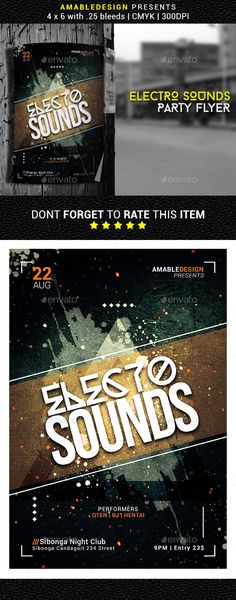 Electro Sounds Flyer Template PSD