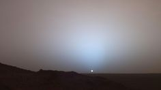 Why are Martian sunsets blue?
