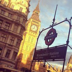 #bigben #westminsterstation #underground #tube #Uk #England #London #afternoon