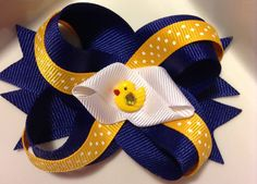 Girls hair clip, bow, Pony tail holder, accessory- Day at the Farm on Etsy, $5.99
