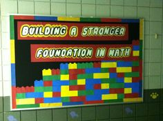 LEGO Bulletin Board Maybe change it to Building a stronger foundation in God