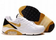 newest 69a92 fcc3c  Man  Nike Air Max 180 White-Gold 505016 014 Air Max 2009,