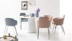 with its round basic shape, the roc chair, designed by uew fischer, has no direction, but it is never out of place. the half-shell of the delicate backrest is covered with fabric or leather and available in high and low versions. a sense of security and comfort are included as standard features.  for more information about cor products, contact glottman @ 305.438.3711 or shop glottman.com.