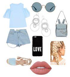 """Beach day"" by maria-alexandra-iordan on Polyvore featuring Iris & Ink, Chicnova Fashion, Ray-Ban, Ippolita, Chloé, Givenchy and Lime Crime"