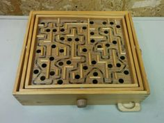 LARGE WOODEN WOOD LABYRINTH MARBLE BALL MAZE BOARD GAME - http://hobbies-toys.goshoppins.com/games/large-wooden-wood-labyrinth-marble-ball-maze-board-game/