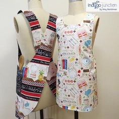 Crossback Reversible Adult and Child Apron Pattern : Crossback Reversible Apron sewing pattern by Indygo Junction – IndygoJunction Easy Sewing Projects, Sewing Projects For Beginners, Sewing Hacks, Sewing Tutorials, Sewing Patterns, Sewing Tips, Apron Patterns, Sewing Crafts, Sewing Ideas
