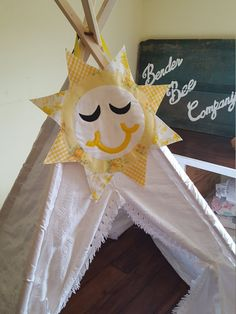 Sunshine Teepee Topper, Teepee, Play Tent, Teepee Topper, Teepee Sign, Kids Room Decor, Nursery Decor, Kids Teepee