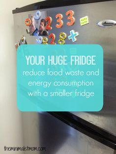 Do You Really Need That Big Fridge? | the minimalist mom