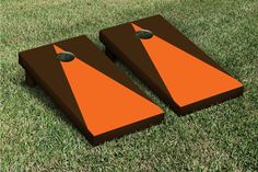 Triangle Matching No Stripe Version 2 Cornhole Boards Game Set