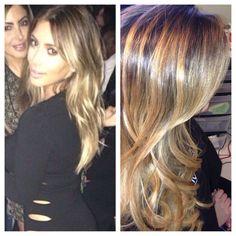 Kim Kardashian Blonde Hair 2013   Sovihair@gmail.com miami based