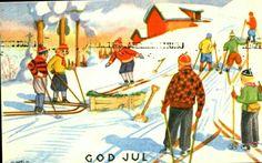 Julekort Otto Mølbach 1940-tallet
