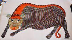 Image result for gond art paintings Gond Painting, Tribal Community, Madhubani Art, Indian Folk Art, Tribal Art, Art Google, Cool Art, Studio Apt, Drawings