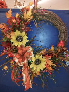 Fall grapevine wreath by kyong