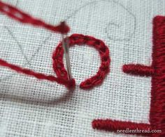 Hand Embroidery: Lettering & Text 7 in Satin Stitch and Chain Stitch – Needle'nThread.com