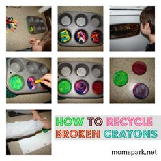 Recycle Your Broken Crayons by Melting Them in Muffin Tins! #crafts #crayons