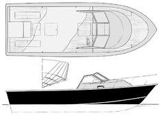24' Cuddy Sport walkaround deck sportfisher www.boatdesigns.com