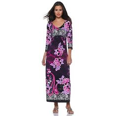 CSC® studio V-Neck Multi-Print Maxi Dress Item: 154-452  HSN Price: $59.90