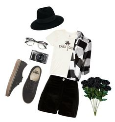 """""""Waiting For You"""" by cupcakes-fave-fashion ❤ liked on Polyvore featuring River Island, Billabong, Vans, Maison Michel, black, weekend and aesthetic"""