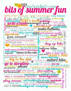 101 bits of Summer Fun.  Summer Activity Printable Poster ~ Be Different...Act Normal