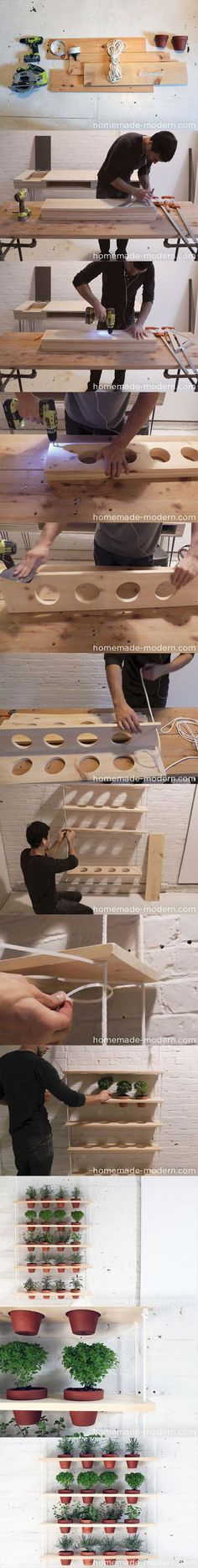 Create a mini garden to grow your herbs and vegetables with a 5 shelve wooden tier storing your terracota pots. DIY Amazing Do It Yourself Craft Ideas - 40 Pics Diy Projects To Try, Home Projects, Craft Projects, Craft Ideas, Ideas Paso A Paso, Wood Crafts, Diy And Crafts, Do It Yourself Crafts, Diy Furniture