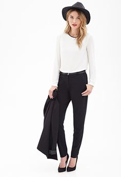 Classic Woven Trousers | FOREVER 21 - 2000063280