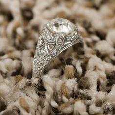 Old European Engagement Ring - Estate Diamond Jewelry - Antique Old Euro Diamond - VS1 Clarity. by EstateDiamondJewelry on Etsy https://www.etsy.com/listing/196742522/old-european-engagement-ring-estate