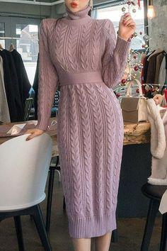 chuu - Adorable and Bubbly Trendy Korean Fashion Crochet Dress Girl, Knit Baby Dress, Crochet Clothes, Crochet Winter Dresses, Knit Fashion, Look Fashion, Korean Fashion, Fashion Brand, Modest Fashion