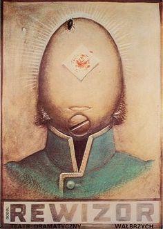 FRANCISZEK STAROWIEYSKI (1930-2009) Contexto: Desesperación y anhelo de autonomía. Búsqueda de la libertad. Reacción sutil a las represiones sociales del régimen dictatorial. >>Tendencia hacia la METAFÍSICA y el SURREALISMO. Años 60 >>Época dorada de la escuela del cartel polaco. Su estilo: _Se inspira en el BARROCO (S. XVII) _Ideas SOMBRIAS / oscuras _Símbolo de la muerte: CALAVERA _Figura de la mujer: arpía / sin cabeza / animal _Texto a mano _Paleta cromática