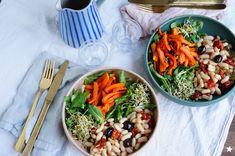 assiette vegan sans gluten Sans Gluten, Ethnic Recipes, Food, In Season Produce, White Beans, Plate, Recipes, Meals, Yemek