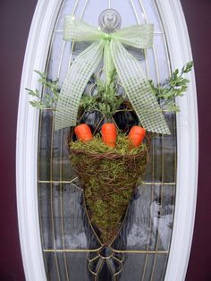 Easter Grapevine Spring Door Basket Wreath by AnExtraordinaryGift, $65.00