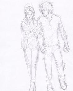 Katniss and Peeta by Burdge-bug. How I imagined peeta. With shaggy hair