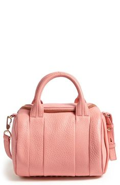 Alexander Wang 'Rockie - Pale Gold' Satchel, Small available at Leather Satchel, Pebbled Leather, My Bags, Purses And Bags, Looks Pinterest, Luxury Purses, Beautiful Bags, Alexander Wang, Fashion Accessories