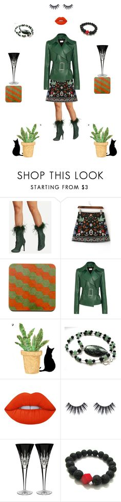 """""""Christmas Cool"""" by einder ❤ liked on Polyvore featuring Thierry Mugler, Lime Crime and Waterford"""