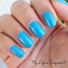blue hawaiian // Covergirl Tropical Glosstinis Collection // My Life in Turquoise