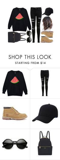"""Untitled #776"" by kendalcanswim ❤ liked on Polyvore featuring Miss Selfridge, Timberland, Keds, ZeroUV and Henri Bendel"