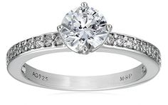 Myia Passiello Essentials Swarovski Zirconia Clear Round Channel Band  Ring Size 8 * Check this awesome product by going to the link at the image.