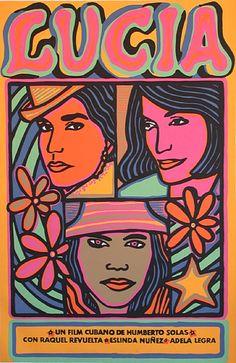Cuban Poster by Raúl Martínez González,.. Lucia...The Art of the Revolution...1970.....